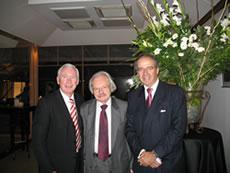 Mr. Ernst Loeschner, Head of Territory of BNPP Austria, Professor Friedrich Cerha, composer, Mr. Charles G. Reisman, Head of Territory of BNPP Israel