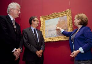 restored Monet painting unveiled at the National Gallery of Ireland