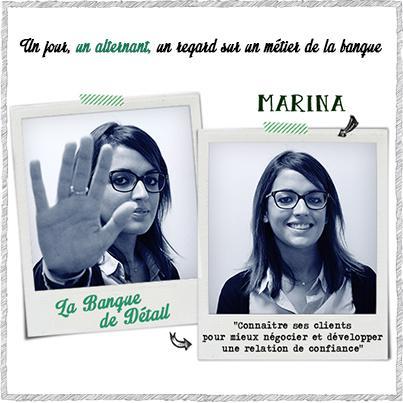 Marina, une alternante