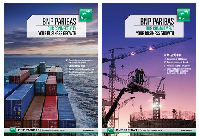 BNP Paribas Campaign - Our connectivity / Our commitment - Your business growth