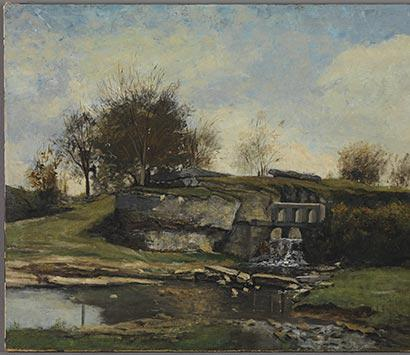 Painting restoration Daubigny