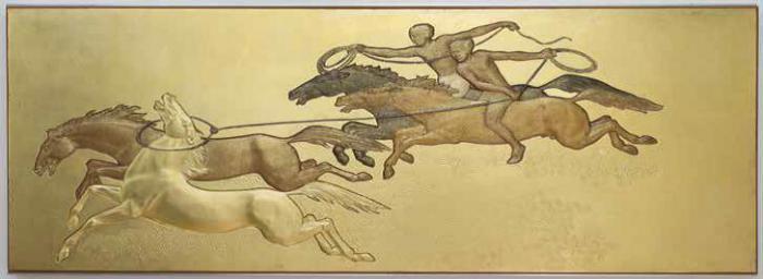 """""""La Conquête du cheval """", Jean Dunand ©Charles Maslard"""